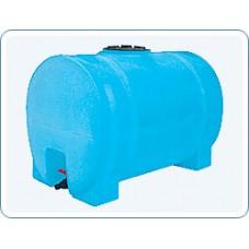 Пластиковая емкость 2000 л цилиндрическая горизонтальная на четырех опорах