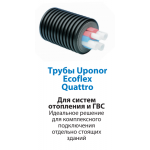 Монтаж системы трубопровода Uponor Ecoflex Quattro в Перми