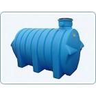 Пластиковая емкость 3500 л цилиндрическая горизонтальная на опорах