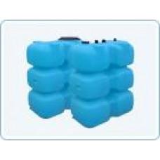 Бак для воды  пластиковый прямоугольный, 1000 л
