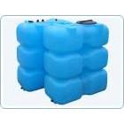 Бак для воды  пластиковый прямоугольный, 1500 л
